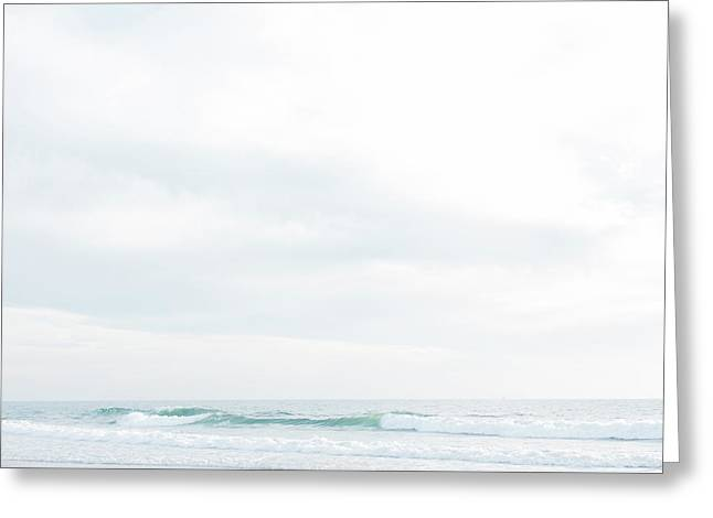 Organic Waves Crashing Greeting Card by Ariane Moshayedi