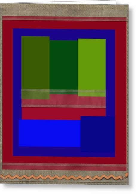 Geometric Design Greeting Cards - Organza Greeting Card by Tina M Wenger