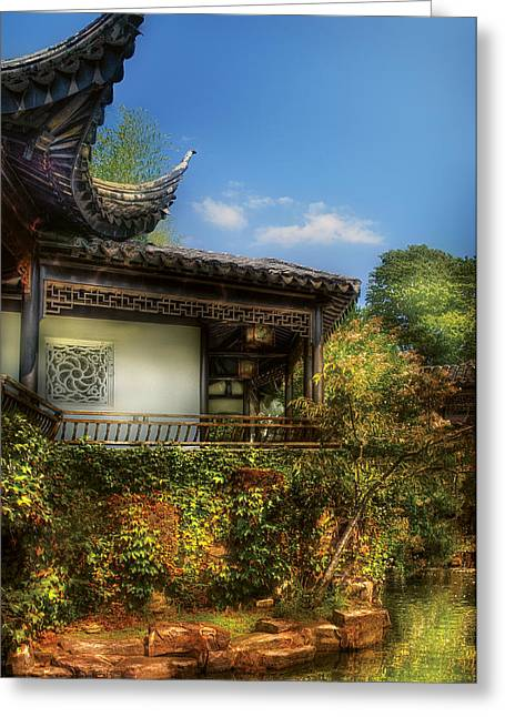 East China Greeting Cards - Orient - A place to pray  Greeting Card by Mike Savad