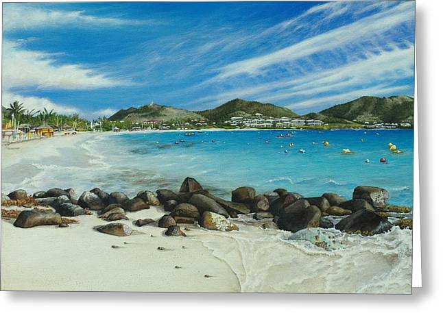St. Martins Greeting Cards - Orient Beach Greeting Card by Cindy D Chinn
