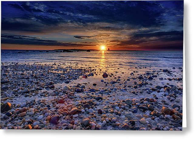Orient Point Sunrise Greeting Card by Rick Berk