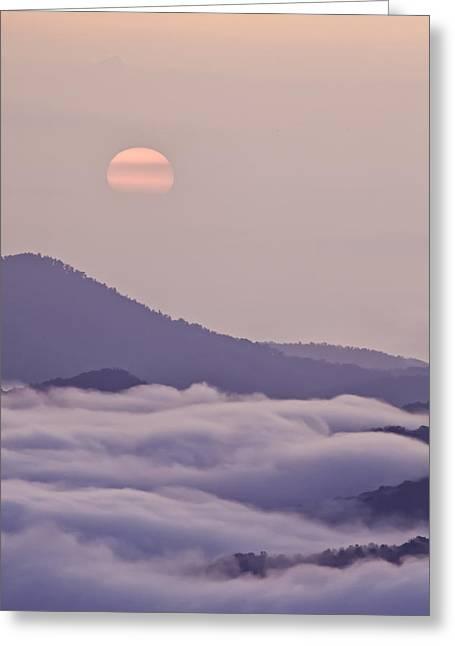 Oriental Blue Ridge Sunrise Greeting Card by Rob Travis
