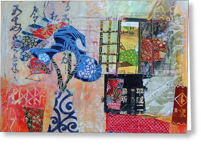 Interior Still Life Paintings Greeting Cards - Oriental Interior Greeting Card by Sylvia Paul