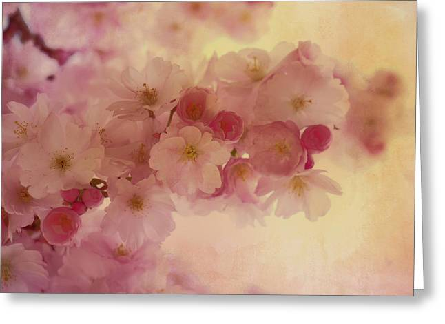 Oriental Romantic Blossoms Greeting Card by Georgiana Romanovna