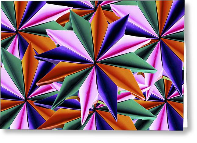 Fineartamerica Greeting Cards - Origami Fireworks Base Greeting Card by Origami Style Carlotta Cristiani