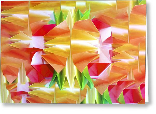 Recently Sold -  - Fineartamerica Greeting Cards - Origami Ball Greeting Card by Origami Style Carlotta Cristiani