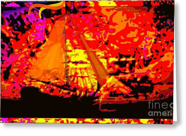 Original Abstract Digital Painting Greeting Card by Larry Lamb
