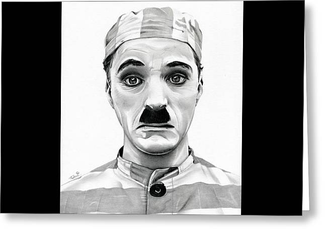 Chaplin Greeting Cards - Original Charlie Chaplin Adventurer Greeting Card by Fred Larucci