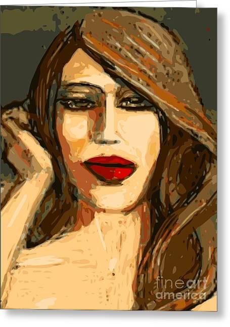 Original Digital Painting Greeting Card by Larry Lamb