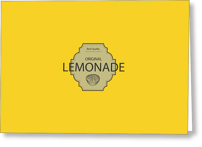 Menu Greeting Cards - Original Lemonade Greeting Card by David Richard designs