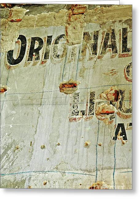 Hamptons Mixed Media Greeting Cards - Urban Distressed Typography Original on a Wall Greeting Card by Anahi DeCanio - ArtyZen Studios