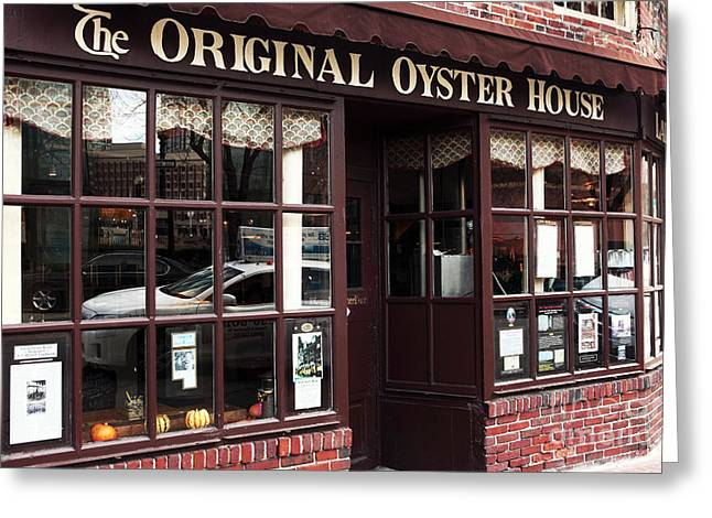 Still Life Photographs Greeting Cards - Original Oyster House Greeting Card by John Rizzuto