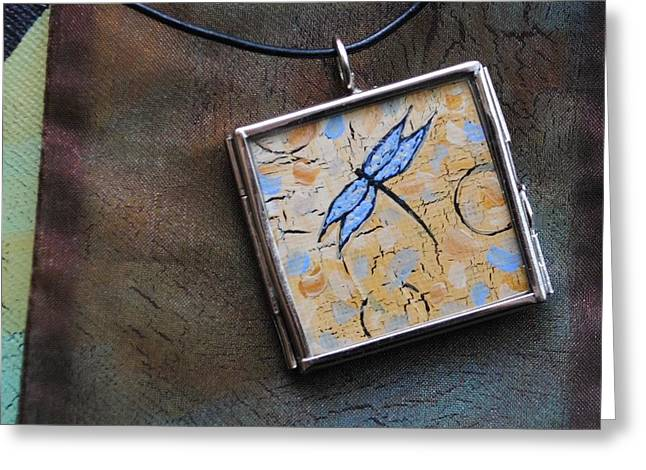 Miniatures Jewelry Greeting Cards - Original Painting - The Dream Greeting Card by Dana Marie