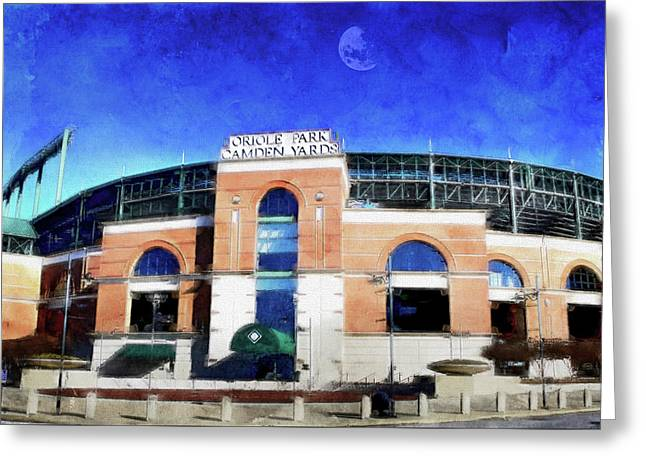 Oriole Park At Camden Yards,  Baltimore, Md. Greeting Card by Chet Dembeck
