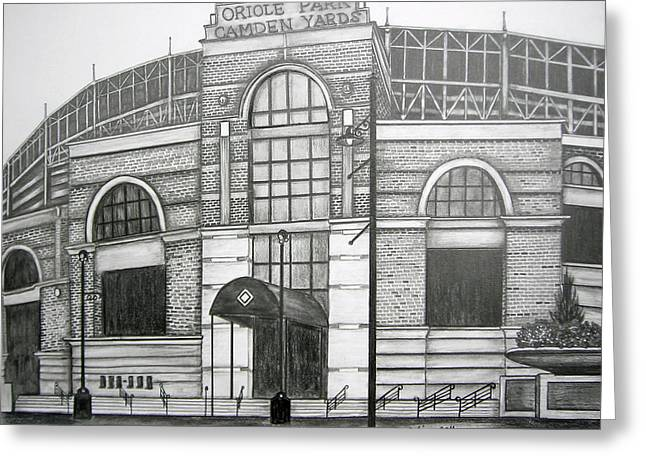 Juliana Dube Greeting Cards - Oriole Park Camden Yards Greeting Card by Juliana Dube