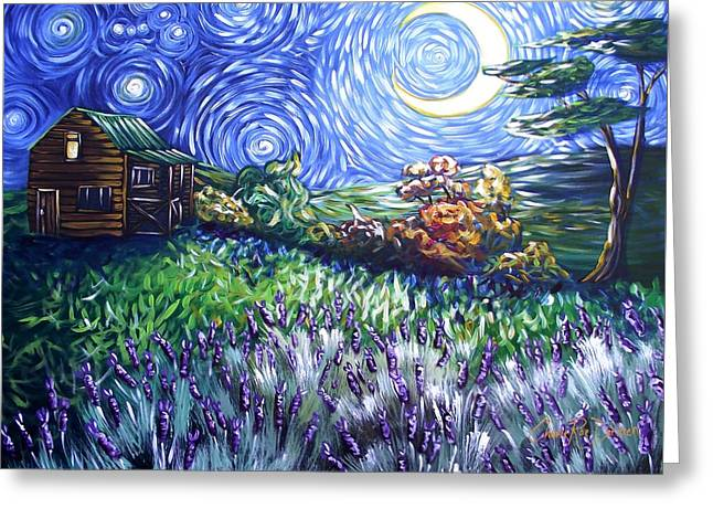 Van Gogh Style Greeting Cards - Orion in my Sky Greeting Card by Cherie Roe Dirksen