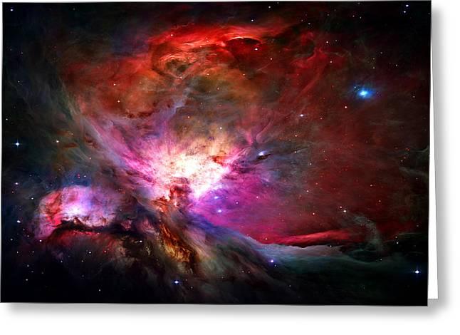 Orion Nebula Greeting Card by Michael Tompsett