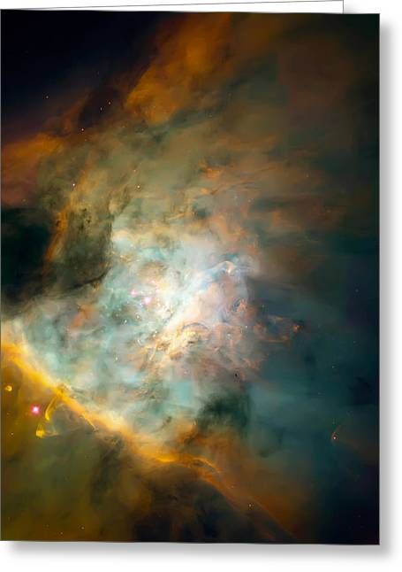 Constellations Greeting Cards - Orion Nebula Mosaic  Greeting Card by The  Vault - Jennifer Rondinelli Reilly