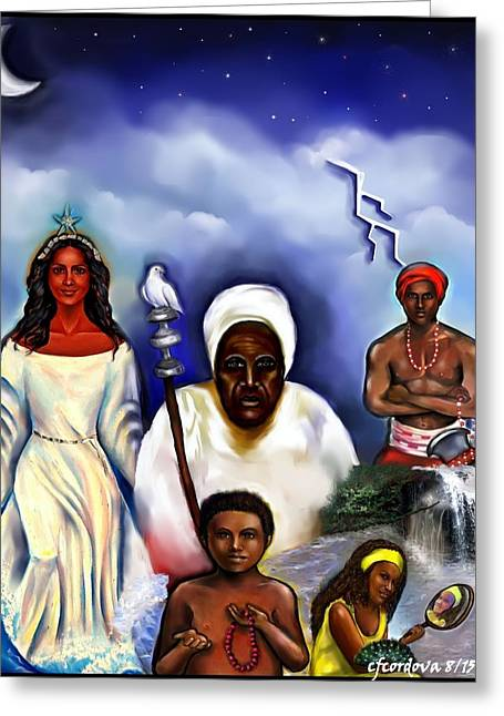 Orishas Greeting Cards - Orishas Greeting Card by Carmen Cordova