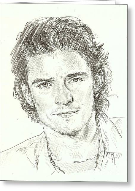 Orlando Bloom Greeting Card by Carla  Stroud