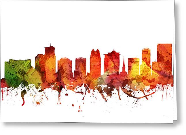 Orlando Greeting Cards - Orlando Cityscape 04 Greeting Card by Aged Pixel