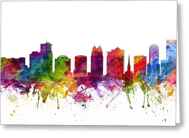 Orlando Greeting Cards - Orlando Cityscape 06 Greeting Card by Aged Pixel