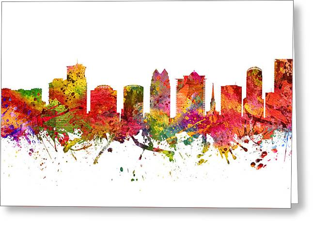 Orlando Greeting Cards - Orlando Cityscape 08 Greeting Card by Aged Pixel