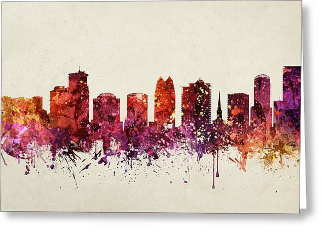 Orlando Greeting Cards - Orlando Cityscape 09 Greeting Card by Aged Pixel
