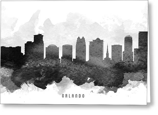 Orlando Greeting Cards - Orlando Cityscape 11 Greeting Card by Aged Pixel