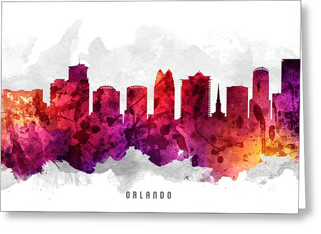 Orlando Greeting Cards - Orlando Florida Cityscape 14 Greeting Card by Aged Pixel