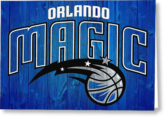 Orlando Magic Graphic Barn Door Greeting Card by Dan Sproul
