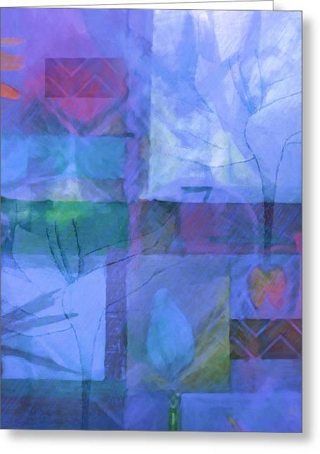 Home Decor Greeting Cards - Ornamenta Blue Greeting Card by Home Decor