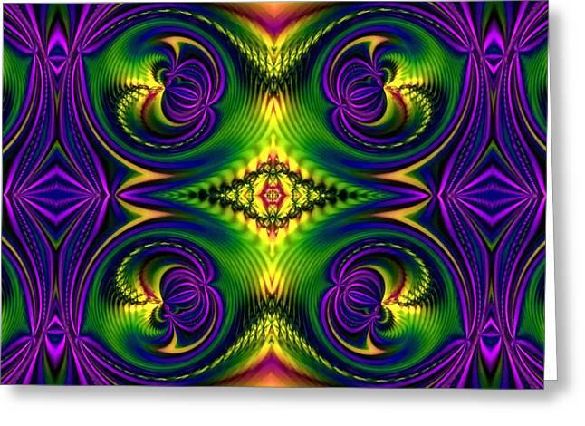 Geometric Digital Art Greeting Cards - Ornamental Flourish Greeting Card by Georgiana Romanovna