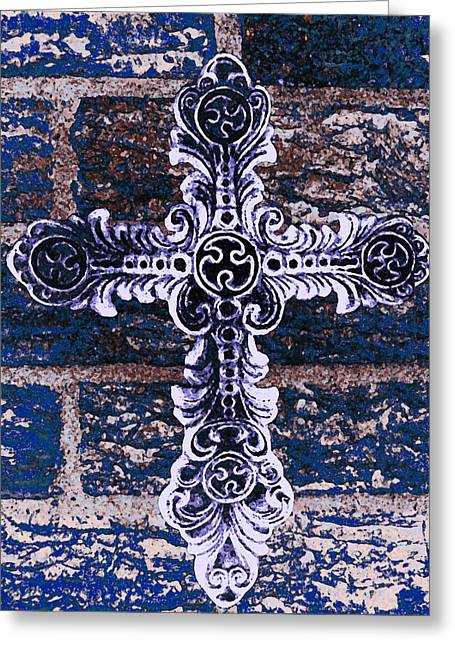 Metalwork Greeting Cards - Ornate Cross 2 Greeting Card by Angelina Vick