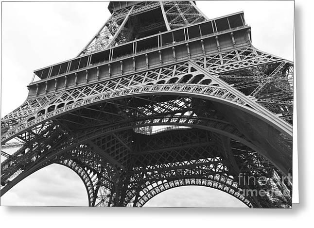 European Landmarks Greeting Cards - Ornate Eiffel Tower Greeting Card by Carol Groenen