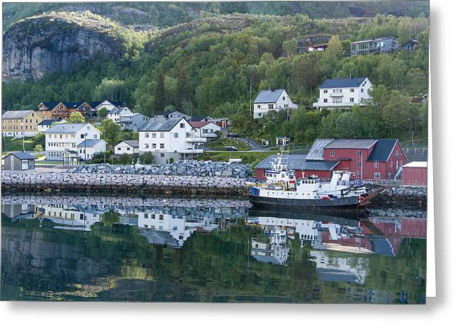 Norway Village Greeting Cards - Ornes Norway Greeting Card by Alan Toepfer