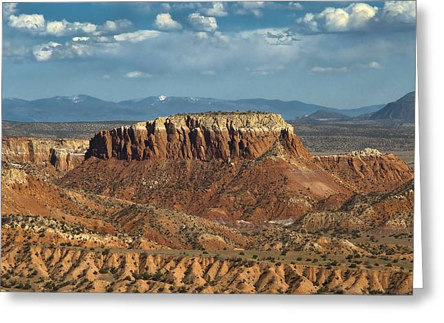 Sangre De Cristo Greeting Cards - Orphan Mesa Greeting Card by Lou  Novick