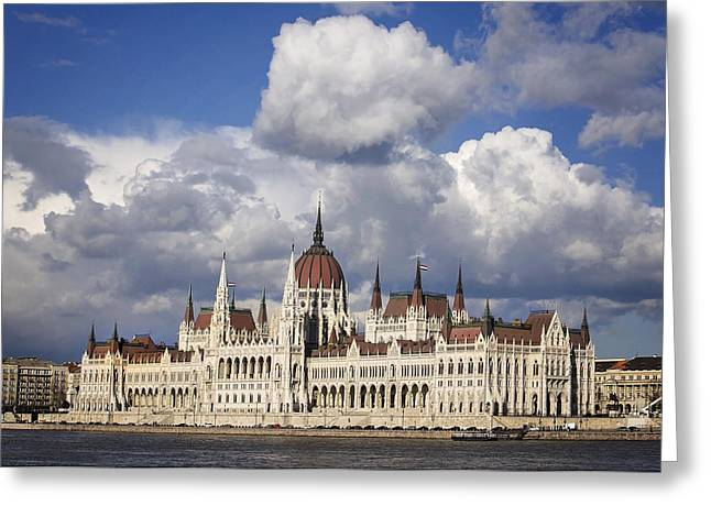Central Europe Greeting Cards - Orszaghaz Greeting Card by Heather Applegate