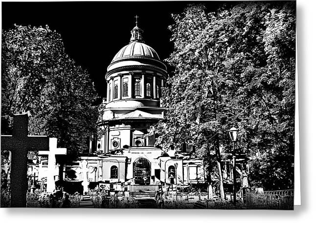 The Church Greeting Cards - Orthodox Cathedral Greeting Card by Alexey Bazhan