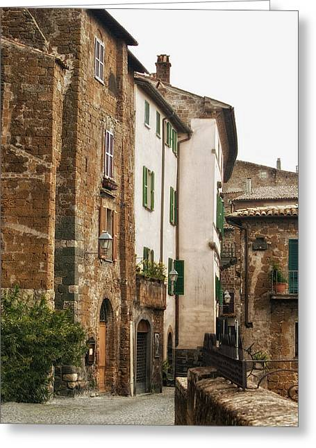 Orvieto Greeting Cards - Orvieto Back Street Greeting Card by Lynn Andrews