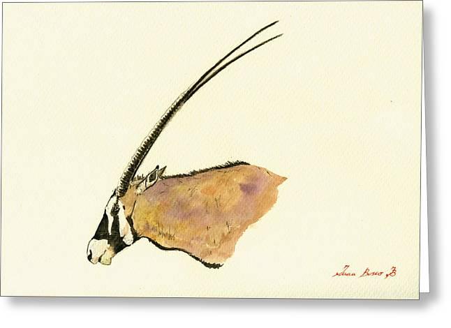 Oryx Greeting Card by Juan  Bosco