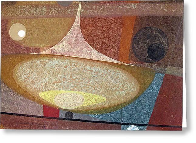 Os1958ar002ba Abstract Design 14x11 Greeting Card by Alfredo Da Silva