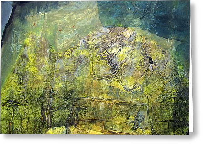 Intuition Greeting Cards - OS1959AR015BA Abstract Landscape of Potosi Bolivia 20.9 x 21.9 Greeting Card by Alfredo Da Silva