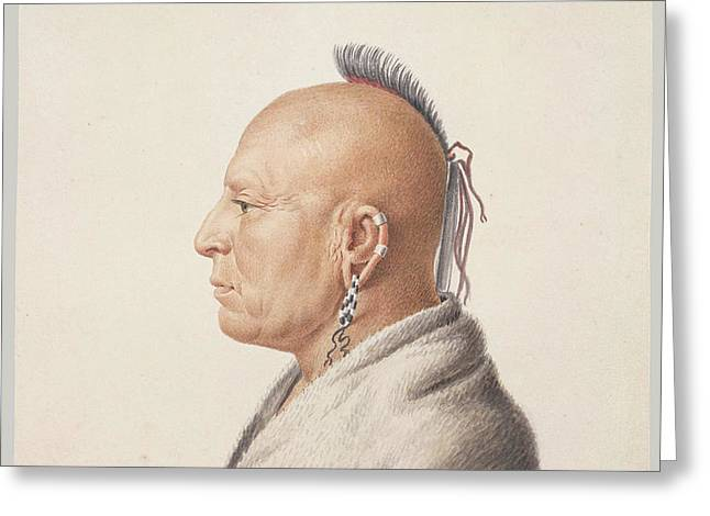 Osage Warrior Greeting Card by Charles Balthazar