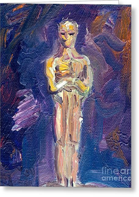 Acting Paintings Greeting Cards - Oscar Greeting Card by Robert Paulson