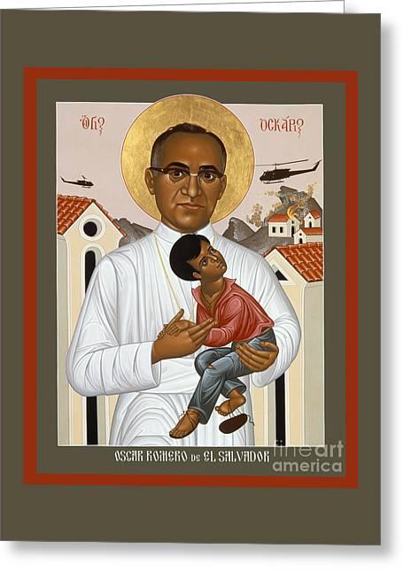 Oscar Romero Of El Salvado - Rlosr Greeting Card by Br Robert Lentz OFM