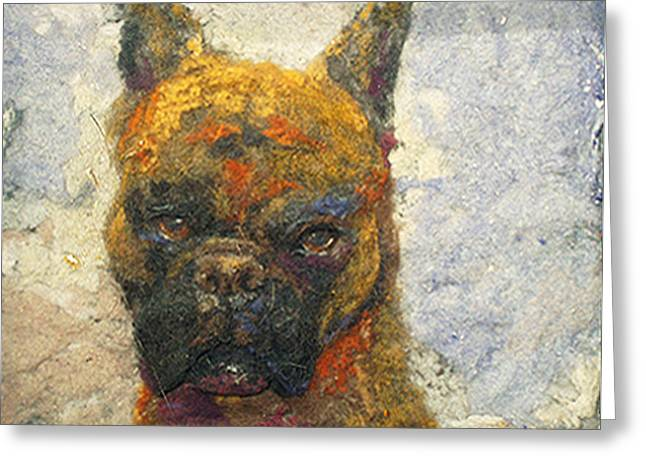 Oscar The Boxer Greeting Card by Karla Kriss