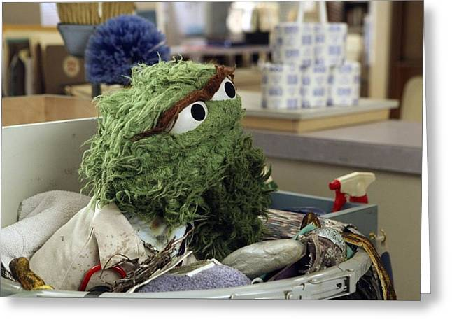 Oscar The Grouch Greeting Card by Sesame Street