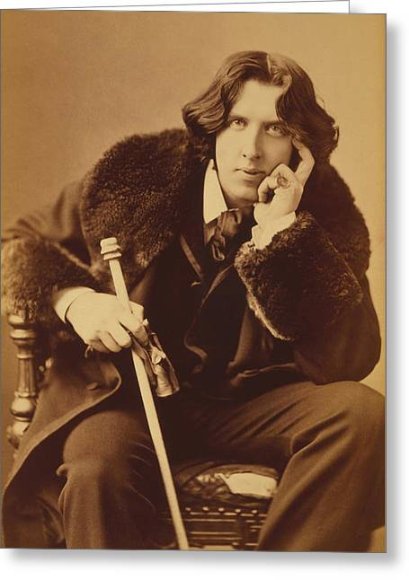Oscar Wilde Greeting Cards - Oscar Wilde - Irish Author and Poet Greeting Card by War Is Hell Store