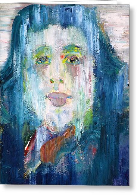 Oscar Wilde - Oil Portrait Greeting Card by Fabrizio Cassetta